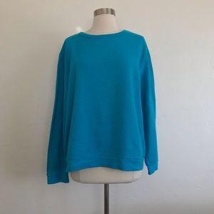 Faded Glory Teal Sweatshirt Size Extra Large